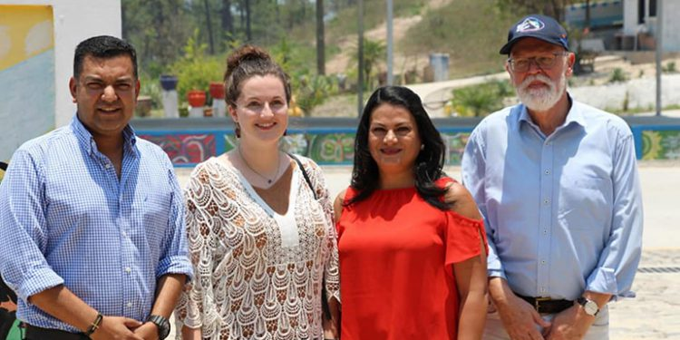 El embajador de la República Federal de Alemania en Honduras, Thomas Wriessnig, supervisó las obras ejecutadas.