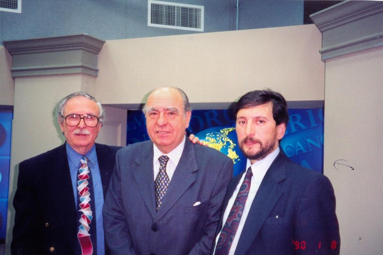 Aquí junto al expresidente uruguayo, José María Sanguinetti.