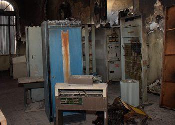 Un 30 por ciento de los aparatos antiguos del Museo del Palacio de las Telecomunicaciones (Hondutel) fue consumido por el fuego.