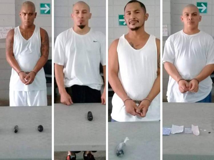 Los internos fueron identificados como Cristian David Contreras, Javier Antonio Flores, Joao Menjívar Romero y Omar Rodríguez.