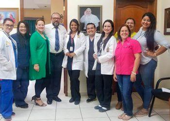 Comité porganizador del Primer Congreso Médico Multidisciplinario que celebrará el Hospital Santo Hermano Pedro, en Catacamas, Olancho.