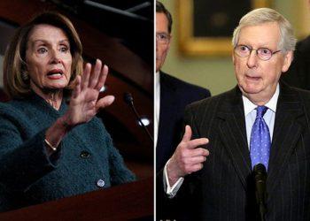 Nancy Pelosi y Mitch McConnell