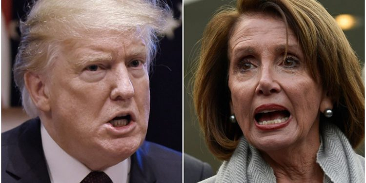 Trump y Nancy Pelosi