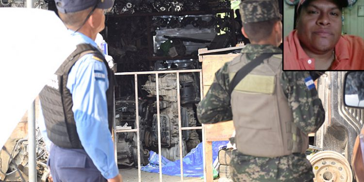 El cadáver de Geovanny Mejía quedó en el interior de su negocio de venta de repuestos. La Policía Nacional no manejaba ninguna hipótesis de este crimen.