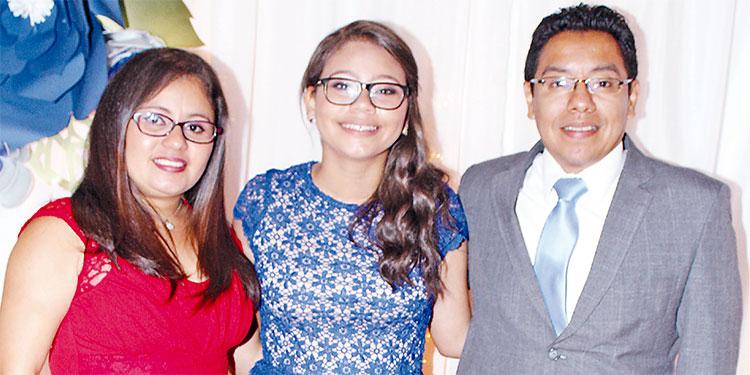 Claudia Vanessa Estrada de Lemus, Valeria Isabell Baca Estrada, Rony Rodolfo Lemus De León.