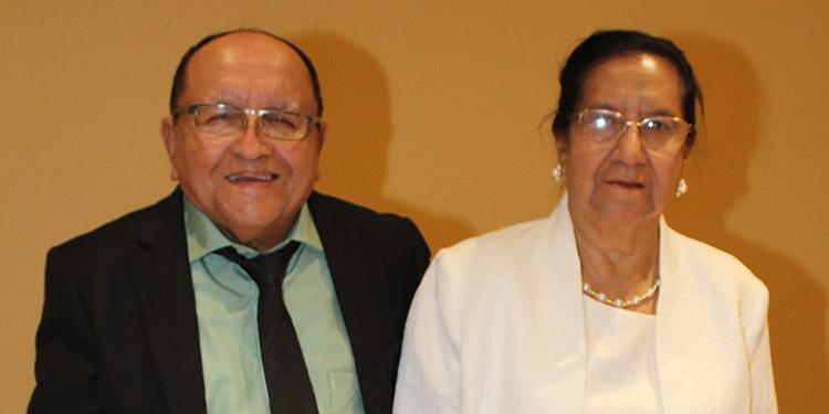 Aldí Cáceres Flores y Gloria Espìnales