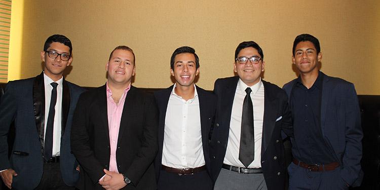 Daniel Montoya, Leonardo García, Luis Chinchillla, Miguel Rojas, Sebastián Funes.