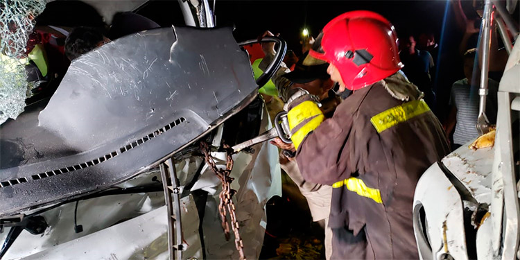 El joven accidentado vivió momentos de angustia antes y durante la operación de rescate del equipo de bomberos.