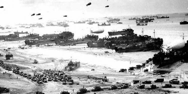 Armada naval que zarpó el 6 de Julio de 1944 y llegó a las playas de Normandía, Francia.