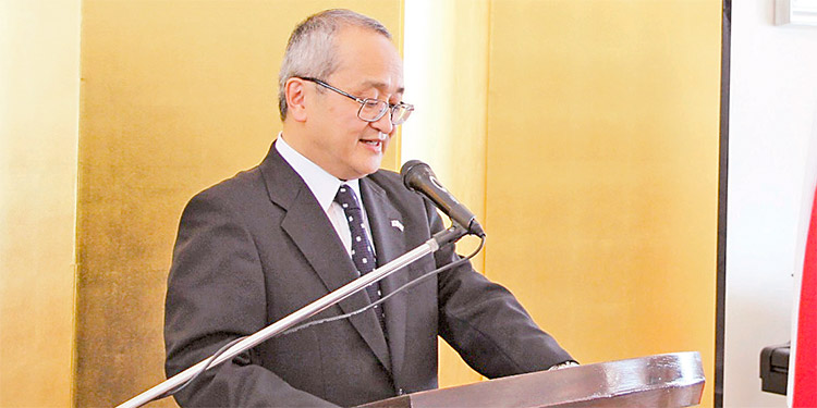 Norio Fukuta durante su discurso.