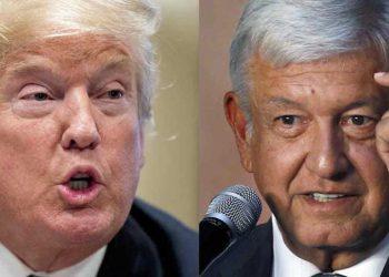 Trump y López Obrador.