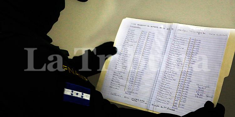 Cada administrador maneja un libro contable, donde mantienen un conteo de todas las extorsiones y sus víctimas.