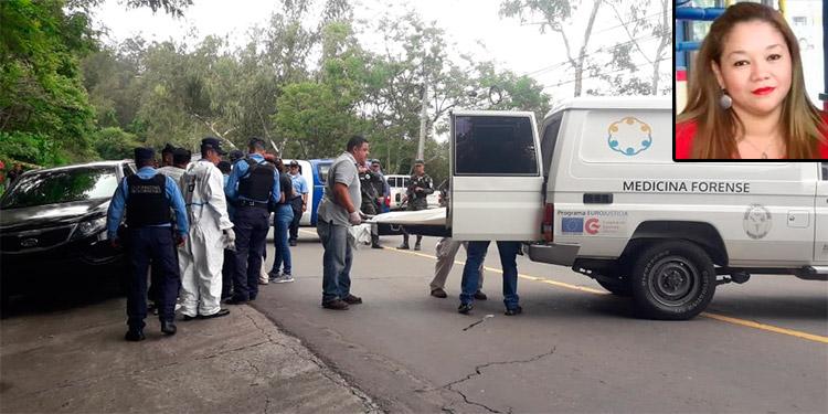 La comerciante individual Lissy Nohemí Gutiérrez Martínez (foto inserta) fue ultimada dentro de la camioneta que manejaba en la carretera hacia El Hatillo, norte de Tegucigalpa.