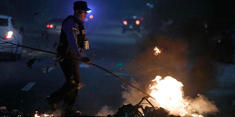 La Policía llama a los manifestantes a no usar la violencia en sus acciones de protesta.