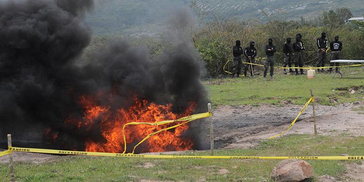 Después de una nueva evaluación el alcaloide fue incinerado en la instalación militar ubicada al sureste de la capital.