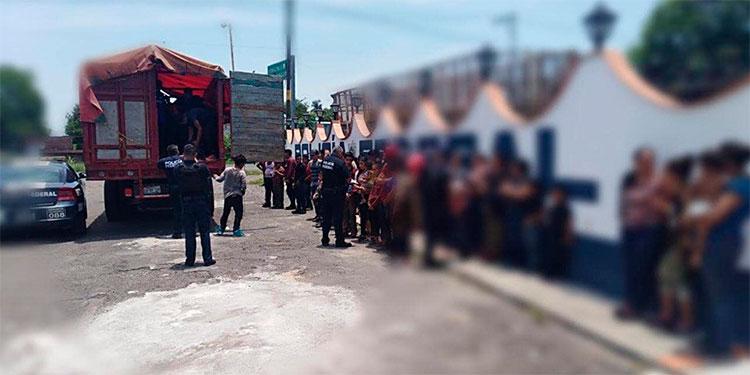 Detienen a 101 migrantes centroamericanos en Veracruz, México