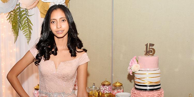Eleany Lasso celebró sus 15 años en el Hotel Real Intercontinental.