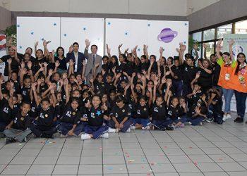 Los alumnos se mostraron muy contentos en todo momento, antes durante y despúes de ampliar sus conocimientos sobre Apolo 11.