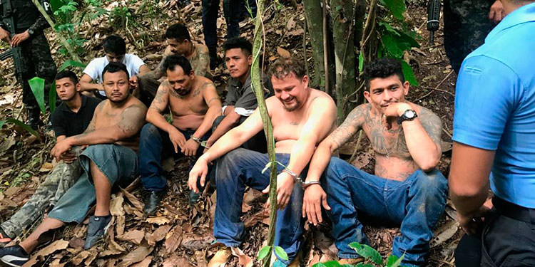 Los 11 cabecillas de la MS-13 fueron remitidos al Centro Penitenciario Nacional de Támara, Francisco Morazán.