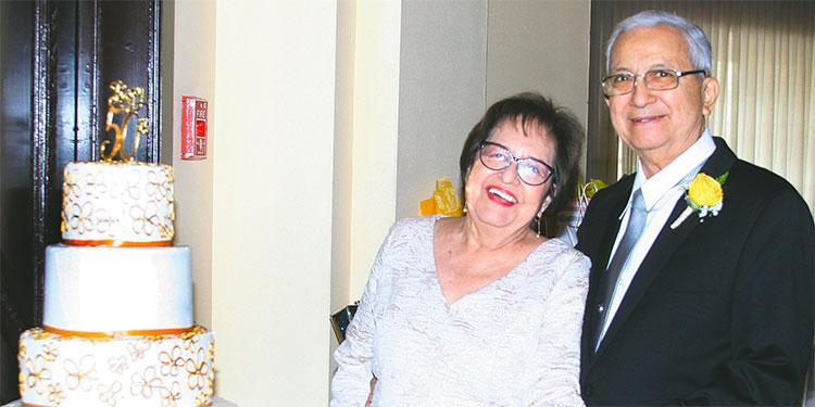 Engracia Henríquez y Patricio Rueda.