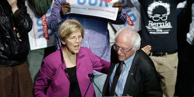 Elizabeth Warren y Bernie Sanders