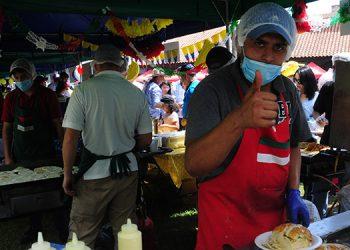 La comida mexicana fue una de las más apetecidas por los visitantes.