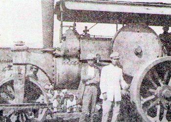 1     La primera aplanadora en Tegucigalpa en 1932 para manteneren buen estado las calles de tierra.