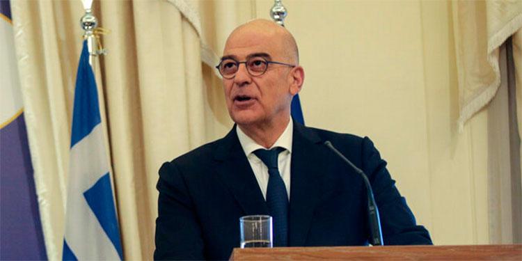 El ministro de exteriores de Grecia Nikos Dendias. AP