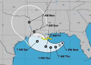La tormenta Barry se convirtió en el primer huracán en el Atlántico en este año