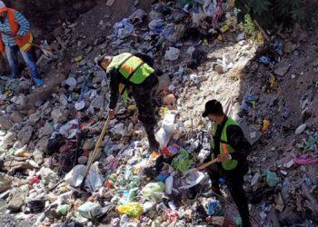 Aporte incluyó limpieza en la quebrada El Sapo y abatización en pilas y otros recipientes en casas de habitación de la colonia Iberia y sectores aledaños.