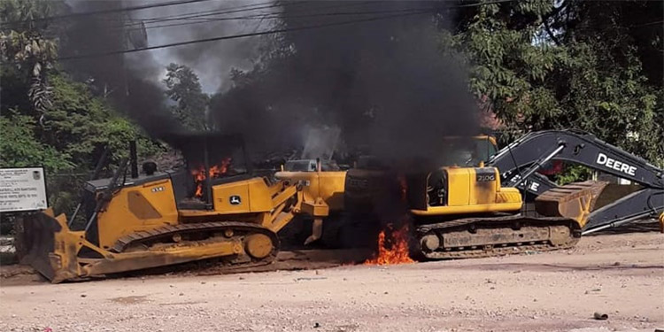 Policías resultan heridos en recuperación de maquinaria en Yoro