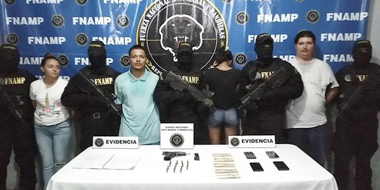 Los cuatro Pandilleros de la 18, entre ellos una menor, fueron detenidos en la colonia Satélite de SPS.