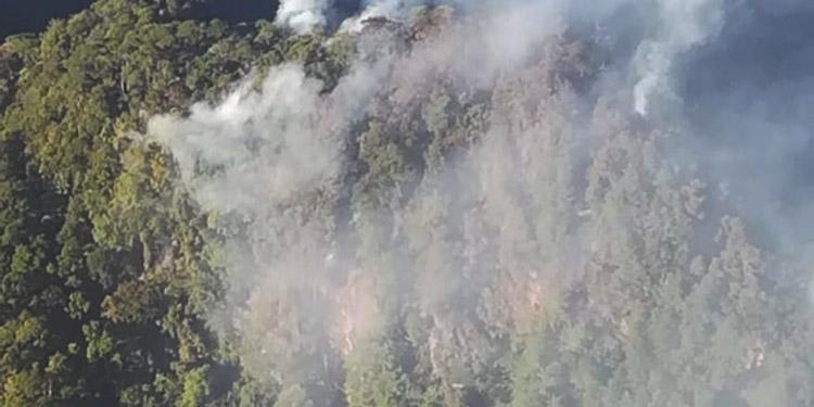 Las tomas aéreas fueron más cercanas al sitio de emanación de humo.