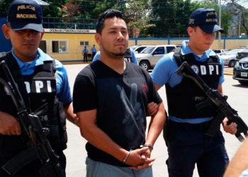 """Luis Alonso Cáceres Mejía (27), alias """"Chema Banegas"""", fue condenado ayer a 40 años de prisión por el homicidio de dos primos en la colonia Los Pinos en marzo del 2018."""