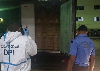 La DPI decomisó un camión con mercadería valorada en 1.6 millones de lempiras.