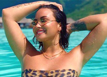 Demi Lovato admitió su gusto por los bikinis con los colores del leopardo.