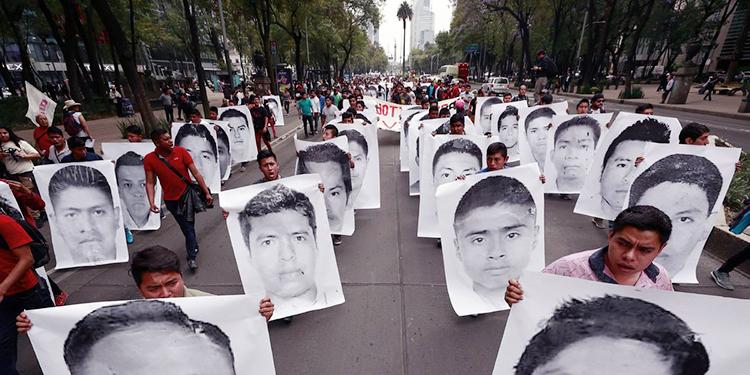 Fueron 43 los estudiantes desaparecidos en el caso Ayotzinapa en 2014.