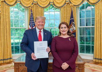 María Dolores Agüero es la primera hondureña en ocupar el cargo de embajadora ante Estados Unidos.