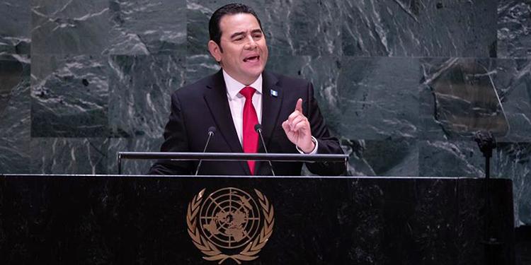 Jimmy Morales, presidente de Guatemala, pidió ante la ONU integrar a Taiwán.