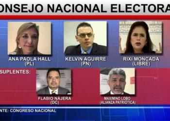 Integrantes del Consejo Nacional Electoral (CNE)
