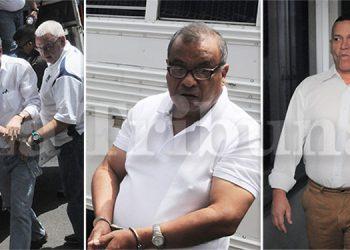 Fiscales del Ministerio Público pidieron ayer penas máximas más pagos de multas que ascienden a más de 100 millones de lempiras, para Olvin Mejía, Josué Argeñal y Héctor Andino.