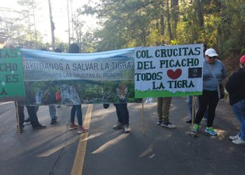 """Este martes se reanudaron los plantones en El Hatillo y otras zonas en """"defensa de La Tigra""""."""