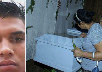 Amigos y familiares del joven fallecido no podían creer que una noche antes habían velado el cadáver de otra persona, creyendo que se trataba de Olvin Alexander Sauceda Elvir (foto inserta).