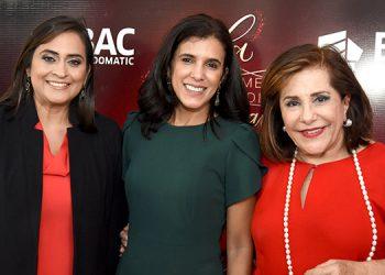 Valeria Ríos, Marcela Melara, Marcela Facussé.