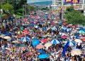 Multitudinaria la marcha de los nacionalistas en apoyo al gobierno del Presidente Juan Orlando Hernández.