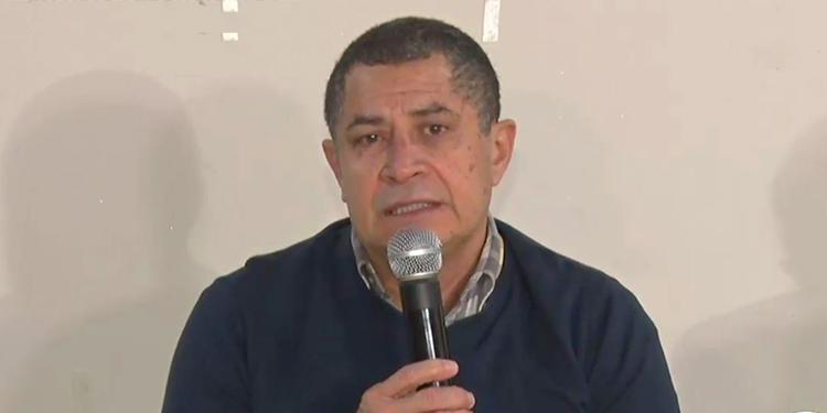 """Amílcar Hernández, hermano de """"Tony"""", aseguró que cree en su inocencia y no culpabilidad durante la conferencia de prensa este martes."""