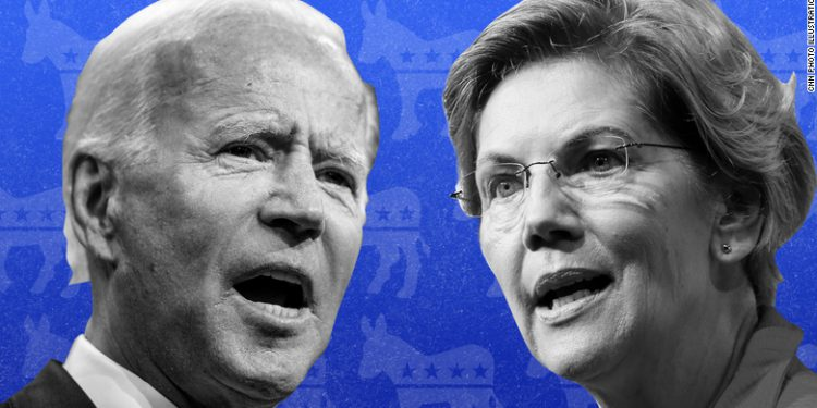Joe Biden y Elizabeth Warren