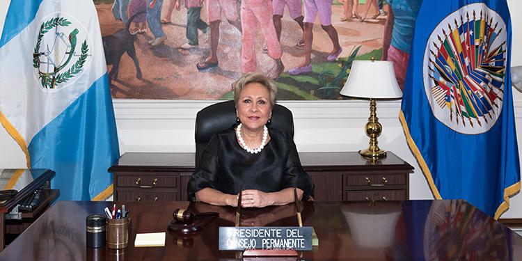 Claverie Díaz, embajadora de Guatemala ante la OEA ostentará la presidencia permanente del organismo.