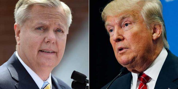 Lindsey Graham y Donald Trump.