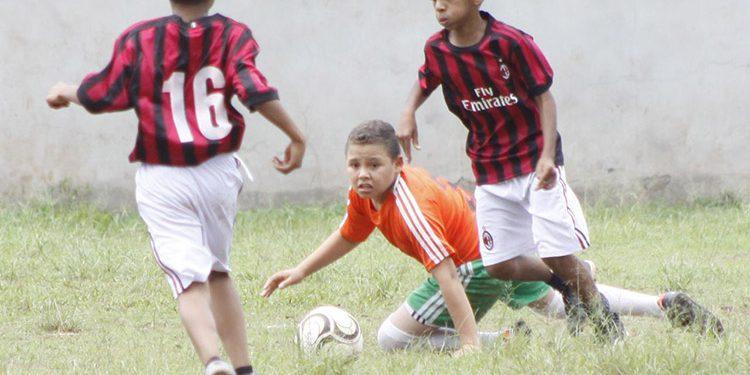 El Mundial Más se juega en la modalidad del fútbol 7 en la gráfica el partido entre los centros Honduras y Centroamérica Este.